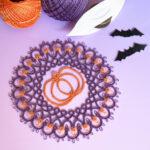 ハロウィンパンプキンのドイリー編み図ができあがりました